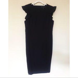 🍂 WHBM Black Shift Dress | Size 8